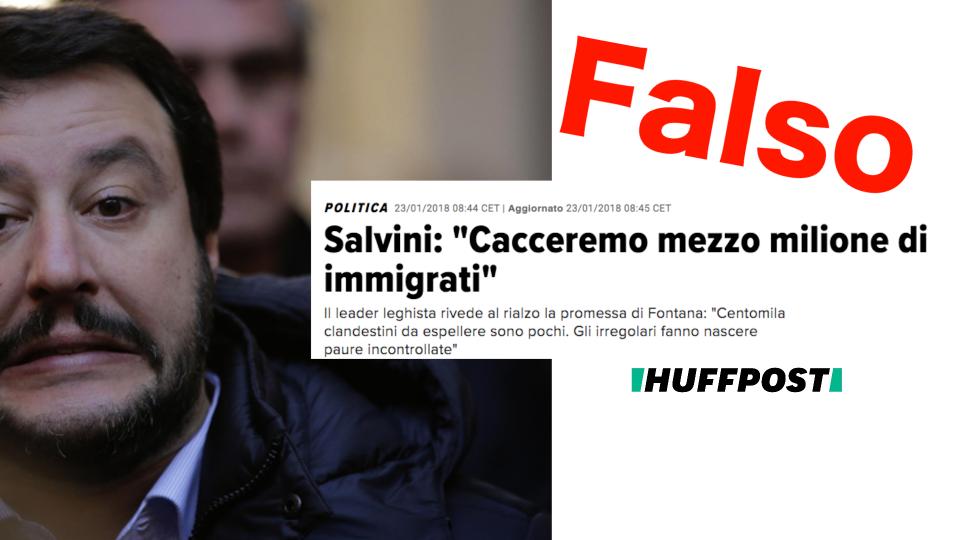 Sui social, in tv e nelle piazze le dichiarazioni di Matteo Salvini che si sono rivelate delle vere e proprie bufale